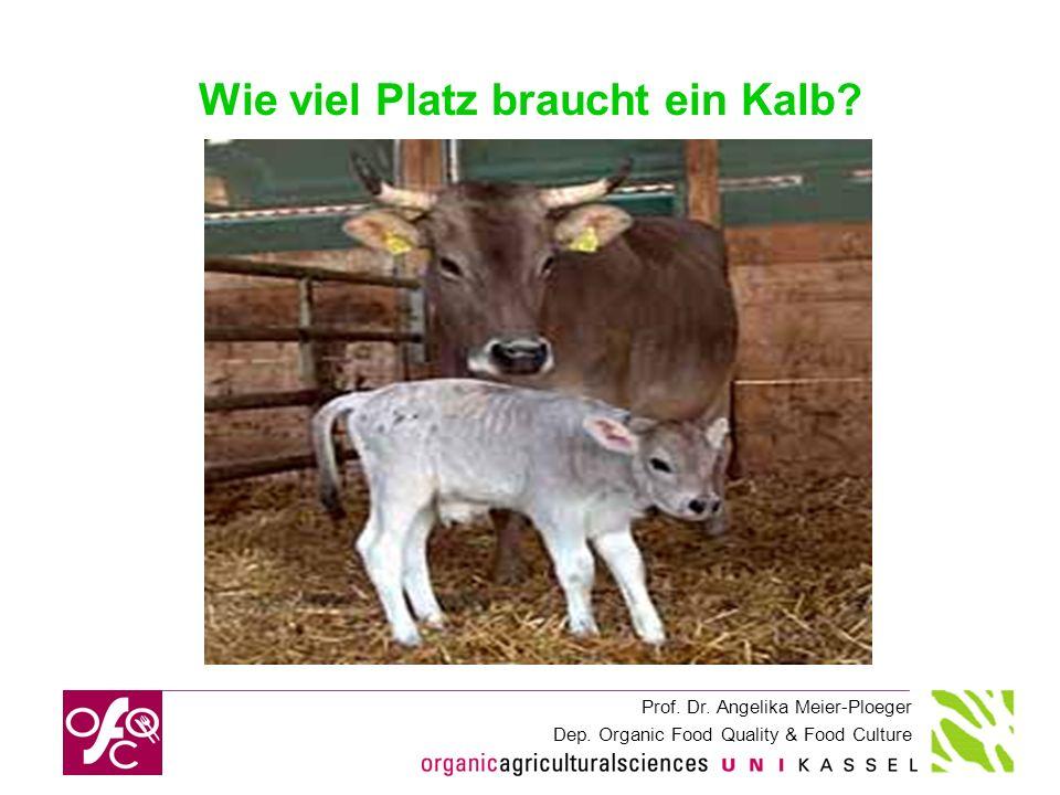 Prof. Dr. Angelika Meier-Ploeger Dep. Organic Food Quality & Food Culture Wie viel Platz braucht ein Kalb?