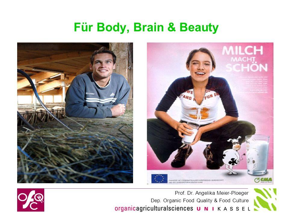 Prof. Dr. Angelika Meier-Ploeger Dep. Organic Food Quality & Food Culture Für Body, Brain & Beauty