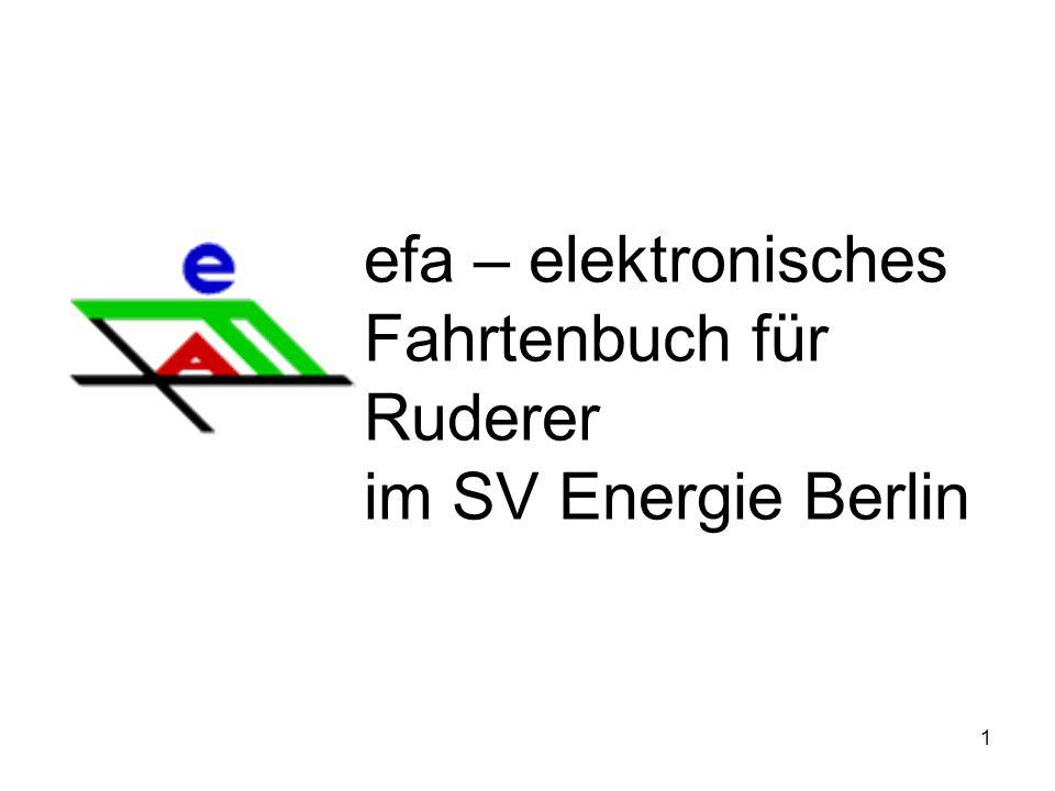 1 efa – elektronisches Fahrtenbuch für Ruderer im SV Energie Berlin
