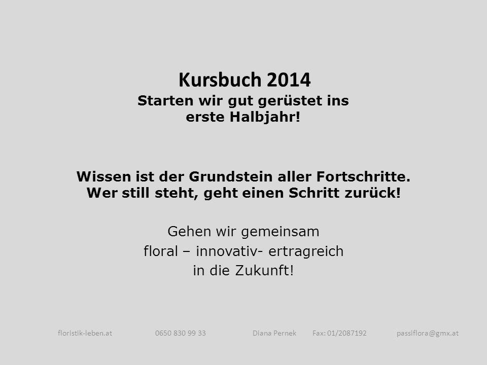 So kommen sie zum Lehrgang Veranstaltungsort: Donaublume Gartenbau GmbH Wolfholzgasse 9 A-2345 Brunn am Gebirge floristik-leben.at 0650 830 99 33 Diana Pernek Fax: 01/2087192 passiflora@gmx.at