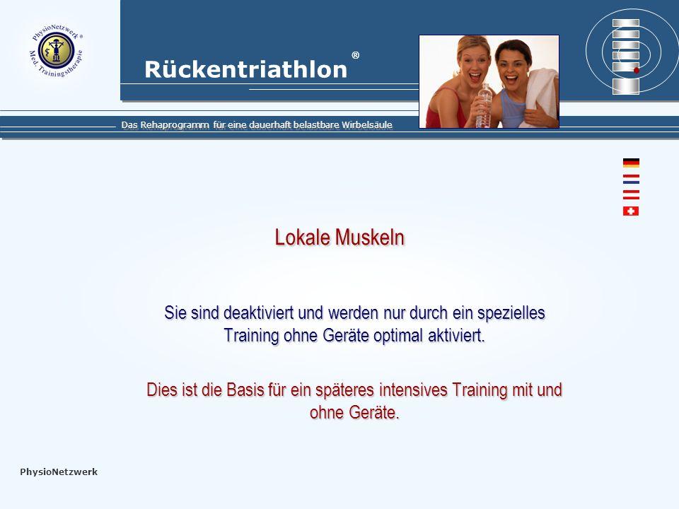 Rückentriathlon Das Rehaprogramm für eine dauerhaft belastbare Wirbelsäule ® PhysioNetzwerk Was ist Rückentriathlon .