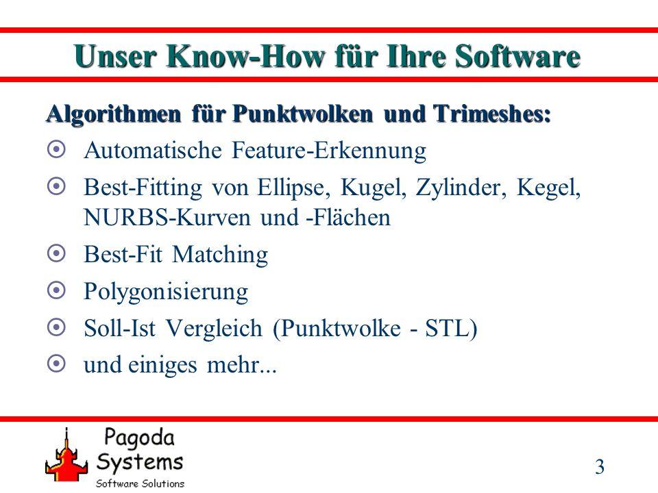 4 Unser Know-How für Ihre Software Feature Erkennung: Erkennung von scharfen Kanten direkt aus Scandaten Integriert in Imageware Surfacer ab Version 10.6