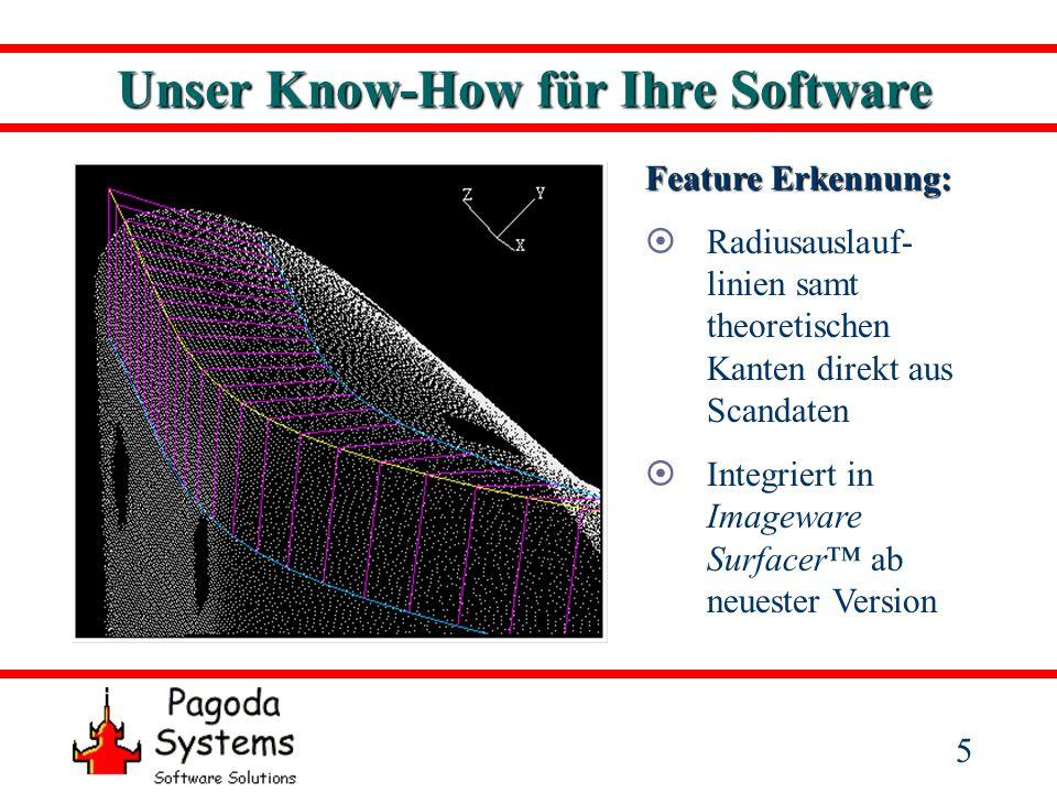 6 Unser Know-How für Ihre Software Feature Erkennung: Präparations- grenze von Zahn- stümpfen direkt aus Scandaten Integriert 2002 in die Software Dentform der DCS Dental AG