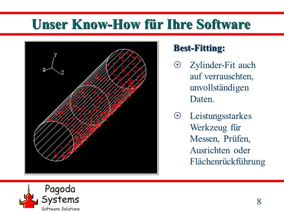 9 Unser Know-How für Ihre Software Best-Fitting: Kegel-Fit auch auf verrauschten, unvollständigen Daten.