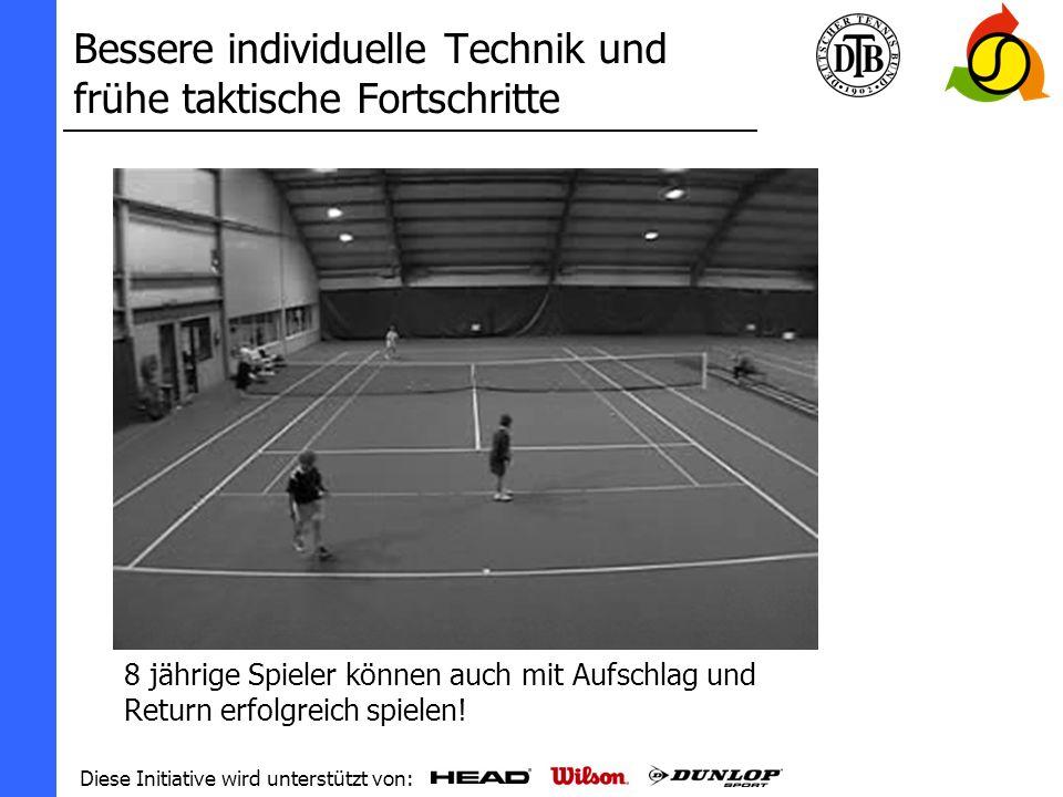 Diese Initiative wird unterstützt von: Tennis...