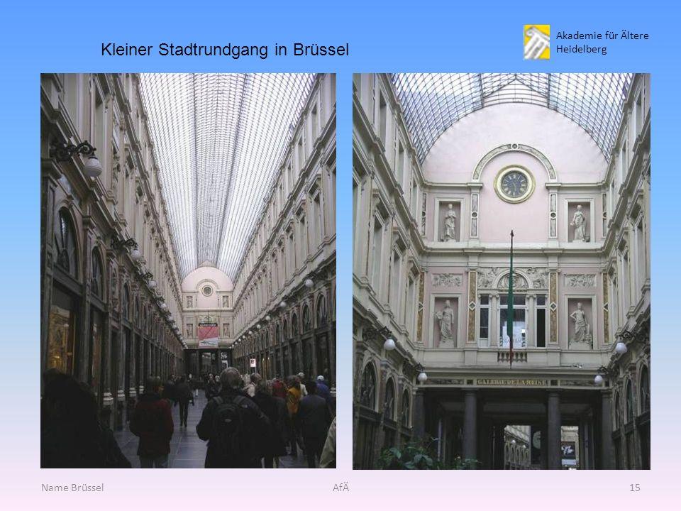Akademie für Ältere Heidelberg Name BrüsselAfÄ15 Kleiner Stadtrundgang in Brüssel