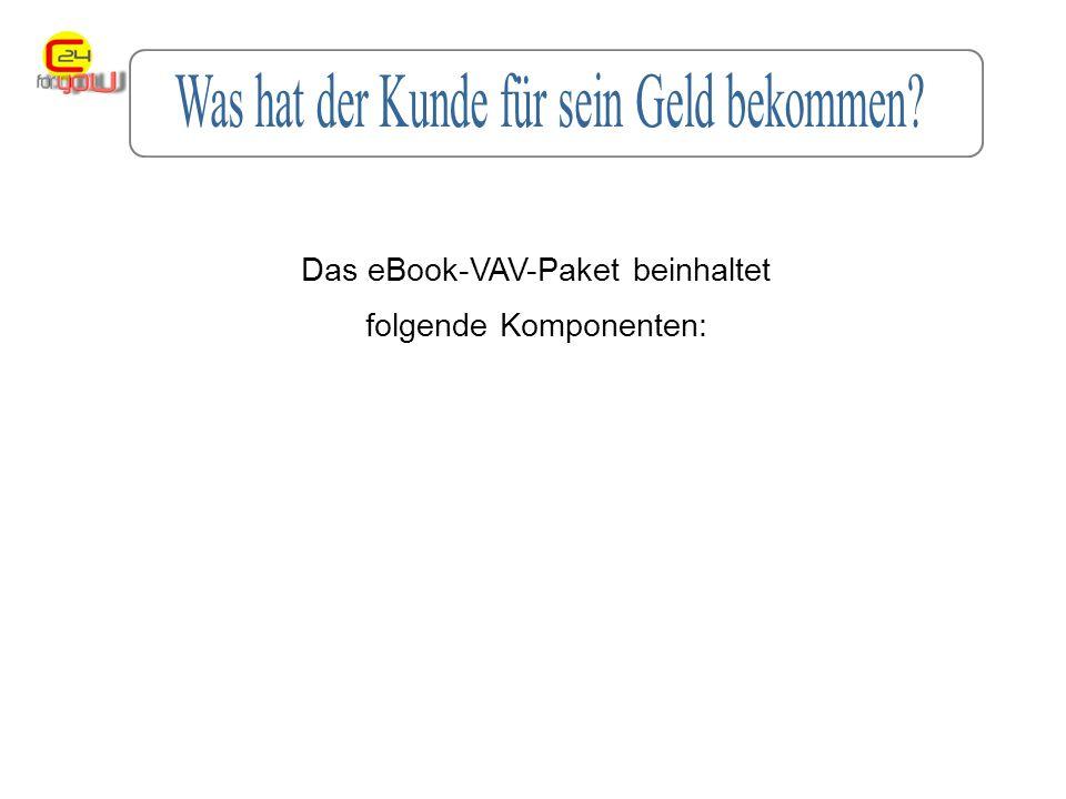 Das eBook-VAV-Paket beinhaltet folgende Komponenten: