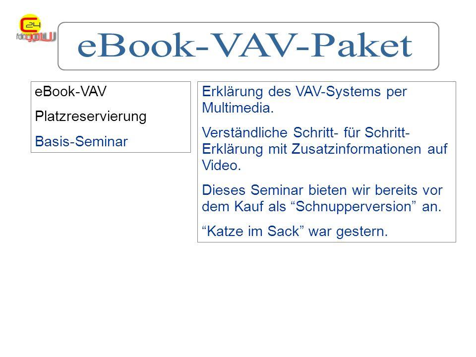 eBook-VAV Platzreservierung Basis-Seminar Erklärung des VAV-Systems per Multimedia.
