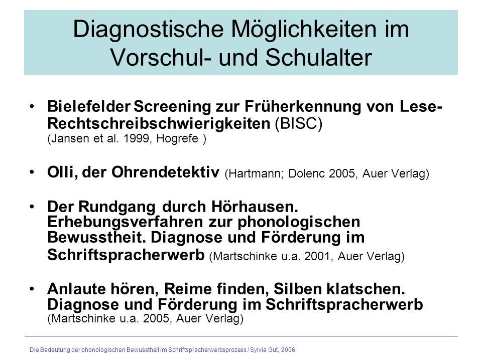 Die Bedeutung der phonologischen Bewusstheit im Schriftspracherwerbsprozess / Sylvia Gut, 2006 Metaphonologische Frühförderung – nur ein Baustein der LRS Prävention Für komplexe Lernprobleme wie LRS gibt es keine einfachen Lösungen.