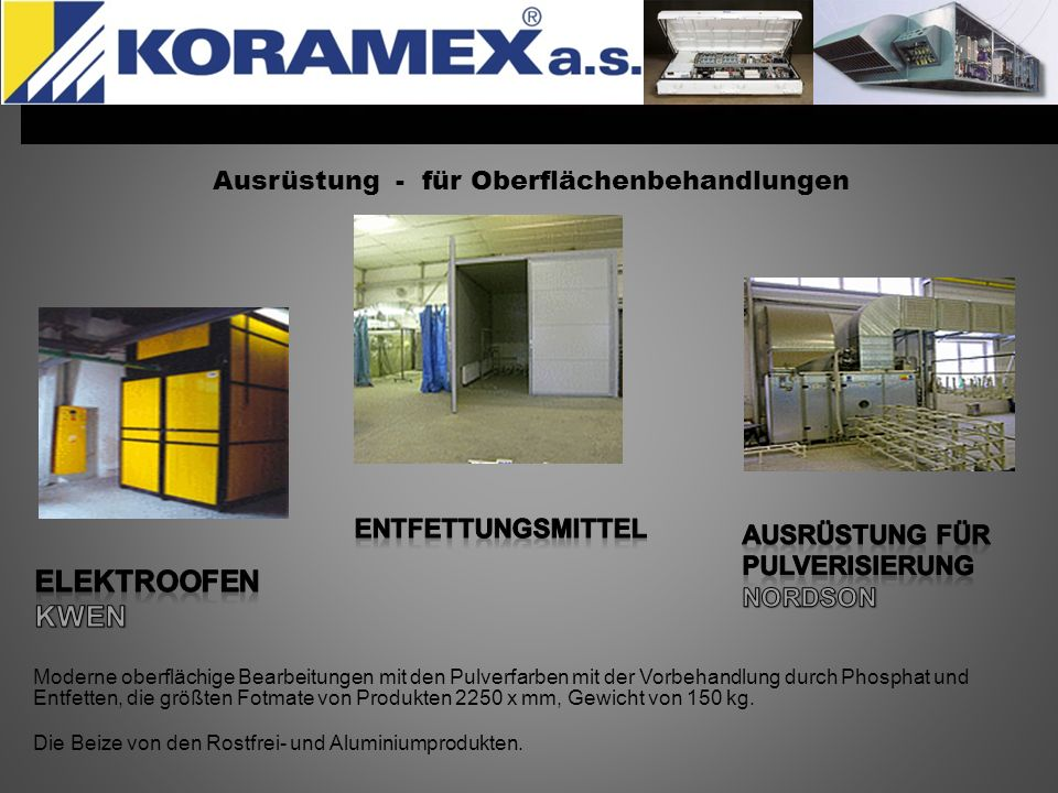 Ausrüstung - für Oberflächenbehandlungen Moderne oberflächige Bearbeitungen mit den Pulverfarben mit der Vorbehandlung durch Phosphat und Entfetten, d