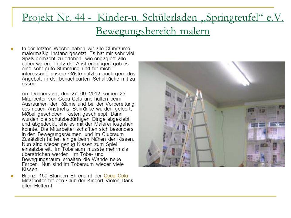 Projekt Nr. 40 – Hunsrück Grundschule Einrichten eines Schülercafè`s So starten wir am ersten Wochenende nach den Osterferien, am 12. / 13. April mit