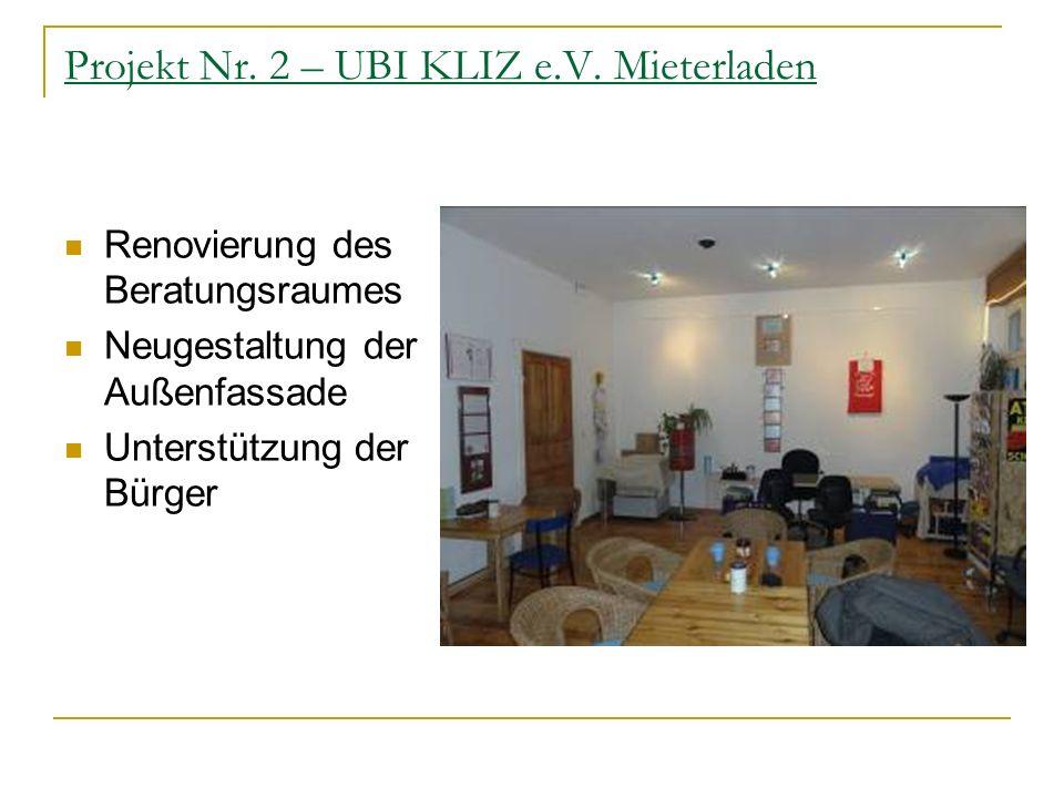 Projekt Nr.2 – UBI KLIZ e.V.