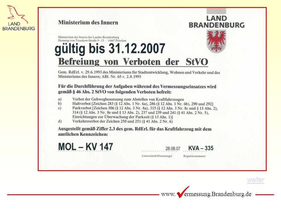 www. ermessung.Brandenburg.de weiter