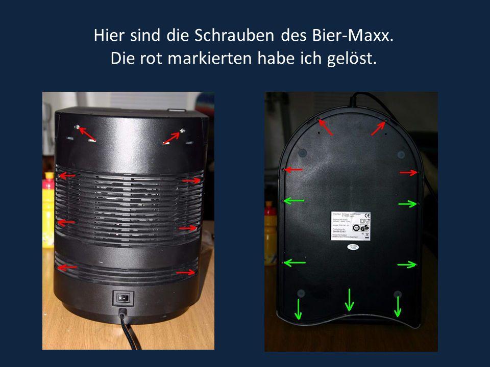 Das ist die Technik im hinteren Bereich des Bier-Maxx.