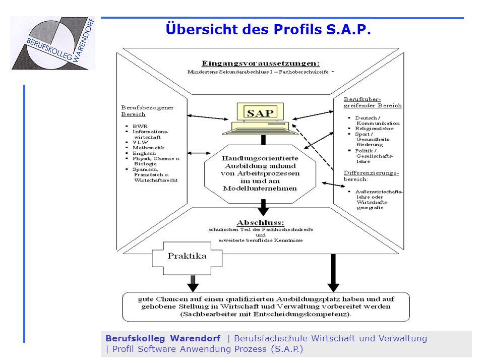Berufskolleg Warendorf | Berufsfachschule Wirtschaft und Verwaltung | Profil Software Anwendung Prozess (S.A.P.) Übersicht des Profils S.A.P.