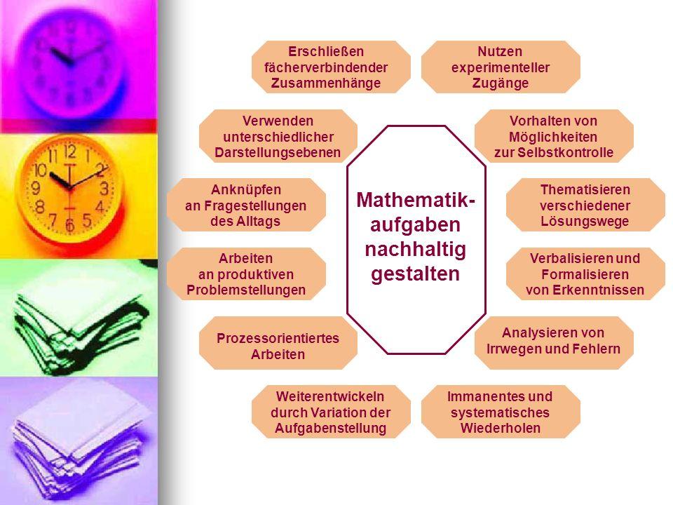 Mathematik- unterricht nachhaltig gestalten Methodenvielfalt Diagnosekompetenz Leistungsbeurteilung Förderkonzepte Kommunikation Beratungskompetenz
