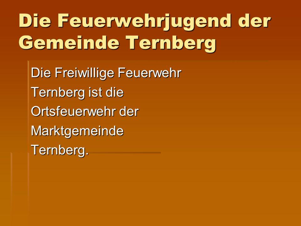 Die Feuerwehrjugend der Gemeinde Ternberg Die Freiwillige Feuerwehr Ternberg ist die Ortsfeuerwehr der Marktgemeinde Ternberg.