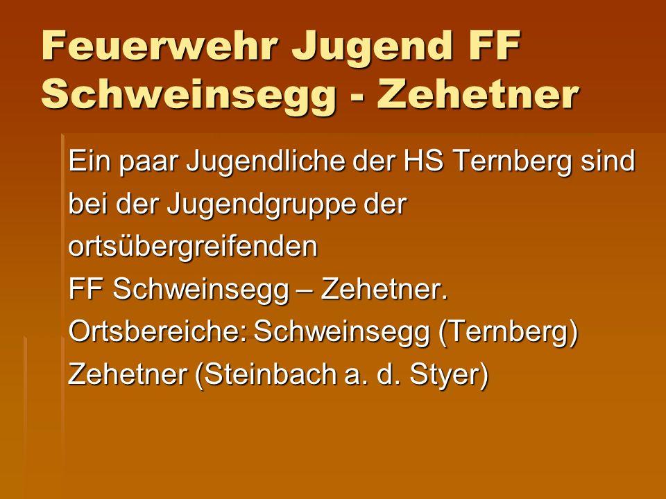 Feuerwehr Jugend FF Schweinsegg - Zehetner Ein paar Jugendliche der HS Ternberg sind bei der Jugendgruppe der ortsübergreifenden FF Schweinsegg – Zehe