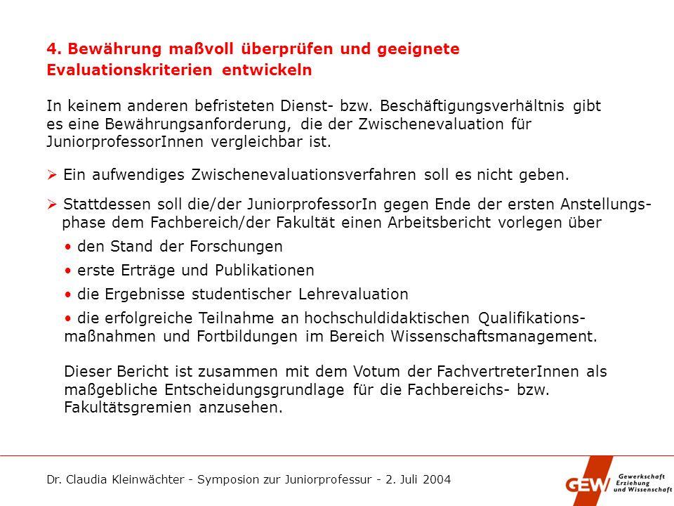 3. Dienstaufgaben angemessen festlegen Die Lehr- und Prüfungsverpflichtungen, die Anwendung des Promotions- rechts sowie die Fortbildungsmöglichkeiten