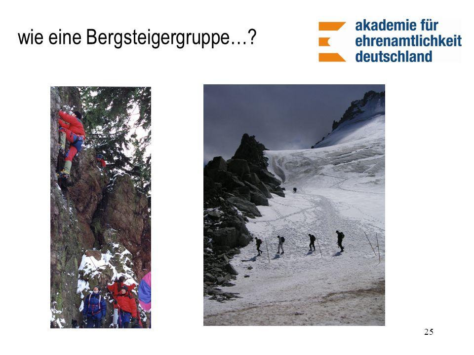 25 wie eine Bergsteigergruppe…?