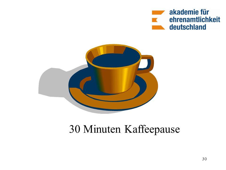 30 30 Minuten Kaffeepause