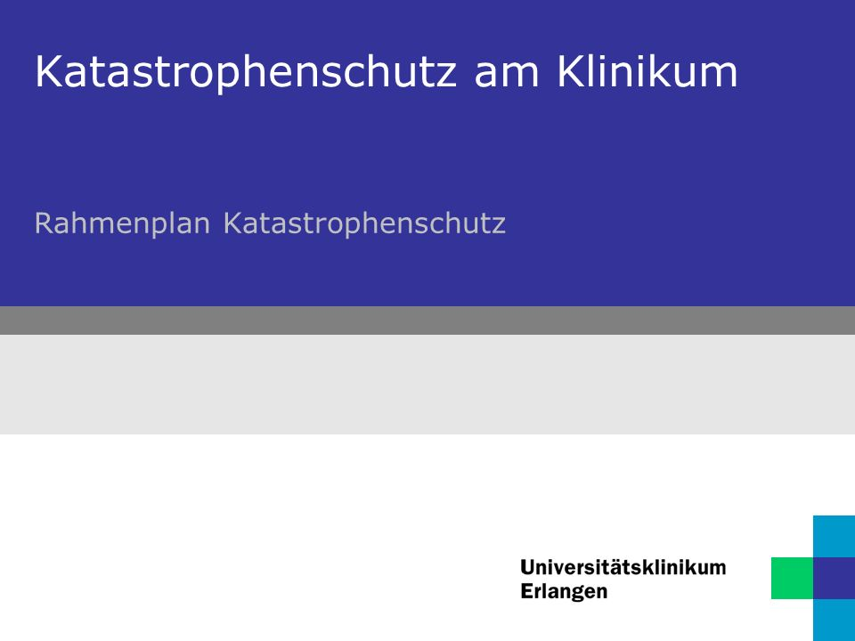 2 Katastrophenschutz am Klinikum Bayerisches Katastrophenschutzgesetz Art.