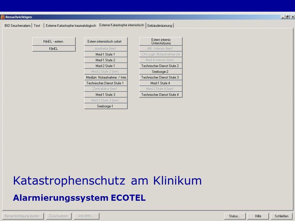 24 Katastrophenschutz am Klinikum Alarmierungssystem ECOTEL