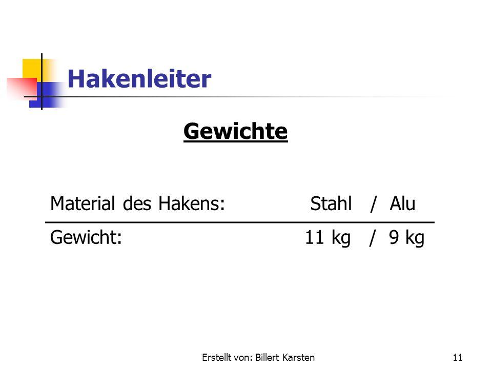 Erstellt von: Billert Karsten10 Hakenleiter Maße Transportlänge:4,40 m max. Einsatzlänge:Unbegrenzt (vom Mut des Feuerwehrmannes abhängig)