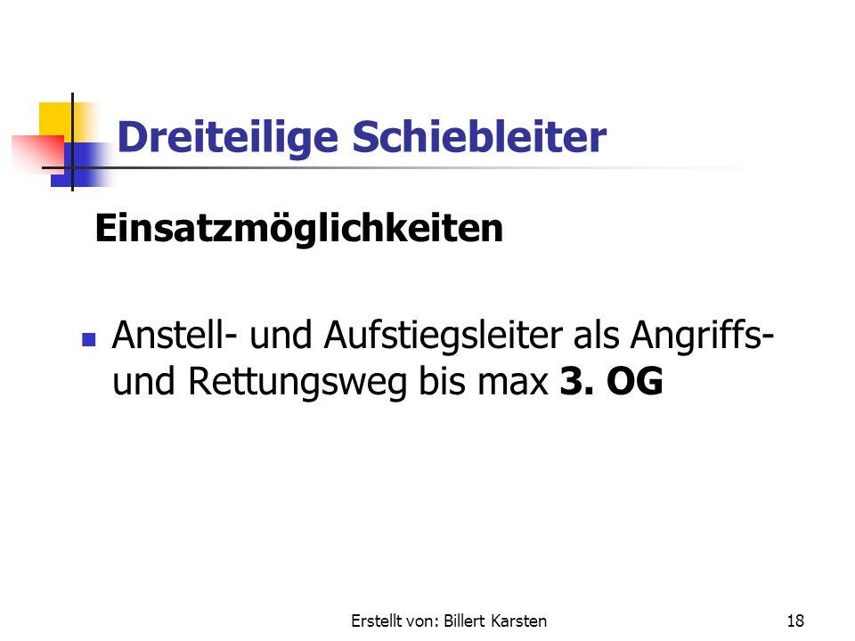 Erstellt von: Billert Karsten17 Dreiteilige Schiebleiter Gewichte Material: Holz / Alu Gewicht: 100 kg / 75 kg