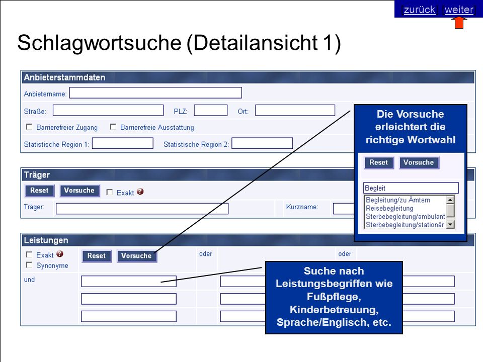 © SNC Social Networks Consulting GmbH [zurück] [weiter]zurückweiter Schlagwortsuche (Detailansicht 1) Suche nach Leistungsbegriffen wie Fußpflege, Kin