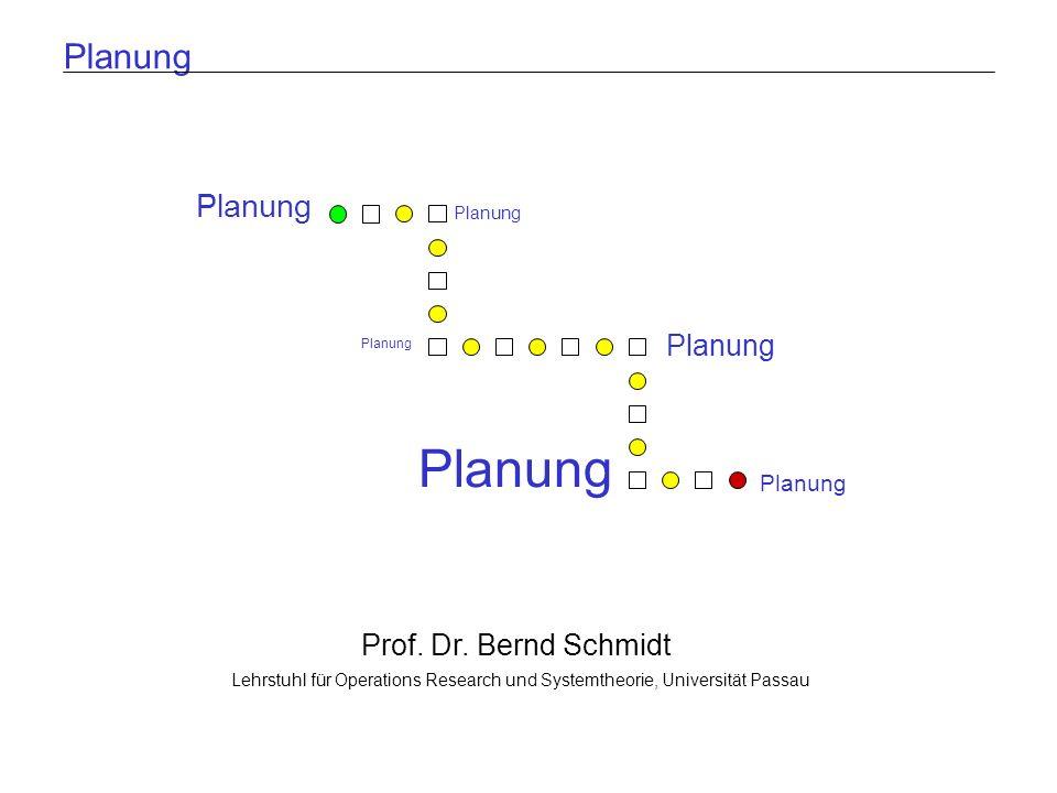 Lehrstuhl für Operations Research und SystemtheoriePlanenFolie 2 Gliederung 1.