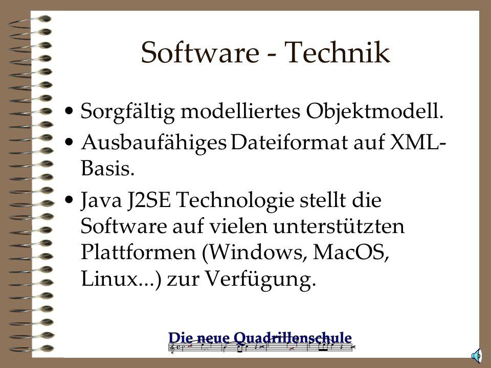 Software - Features Logischer Aufbau der Bedienoberfläche mit Fenstern und Panelen Intuitive Bearbeitung der Spur mit Maus und Tastatur Inhaltlich umf