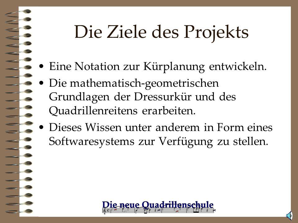 Die Ziele des Projekts Eine Notation zur Kürplanung entwickeln.