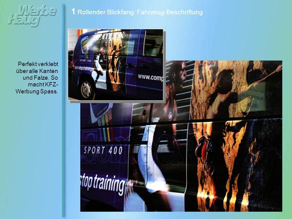 1 Rollender Blickfang: Fahrzeug-Beschriftung Vollbeklebung für LKW-Koffer der Brauerei Baisinger