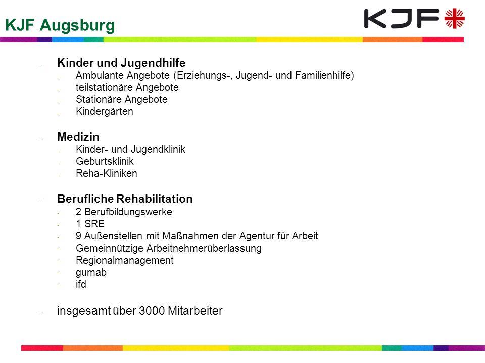 KJF Augsburg - Kinder und Jugendhilfe - Ambulante Angebote (Erziehungs-, Jugend- und Familienhilfe) - teilstationäre Angebote - Stationäre Angebote -