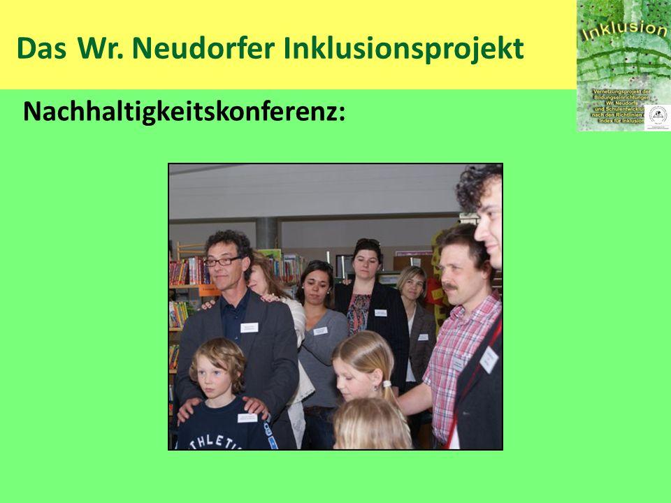 Das Wr. Neudorfer Inklusionsprojekt Nachhaltigkeitskonferenz:
