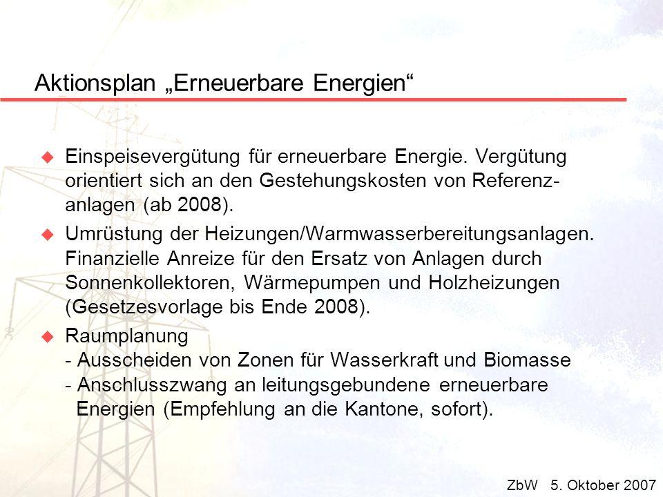 Aktionsplan Erneuerbare Energien u Einspeisevergütung für erneuerbare Energie. Vergütung orientiert sich an den Gestehungskosten von Referenz- anlagen