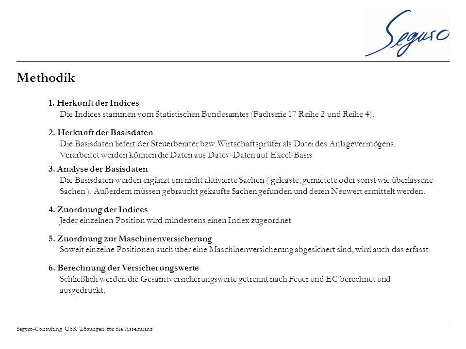 Seguro-Consulting GbR Lösungen für die Assekuranz Methodik 1.