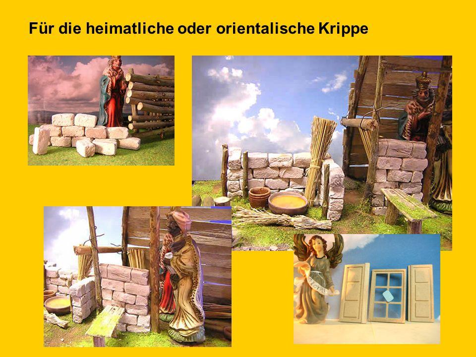 Krippenbau: - Ruinensteine - Modellbausteine aus Ton - Holz - Zubehör - Silikonformen - uvam.