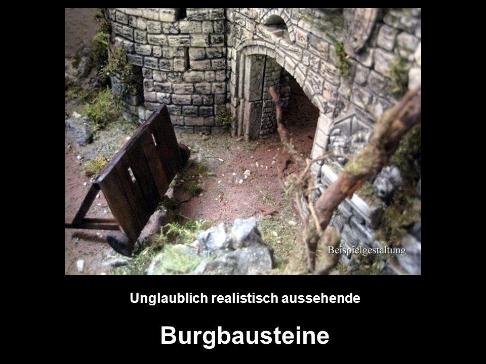 Unglaublich realistisch aussehende Burgbausteine