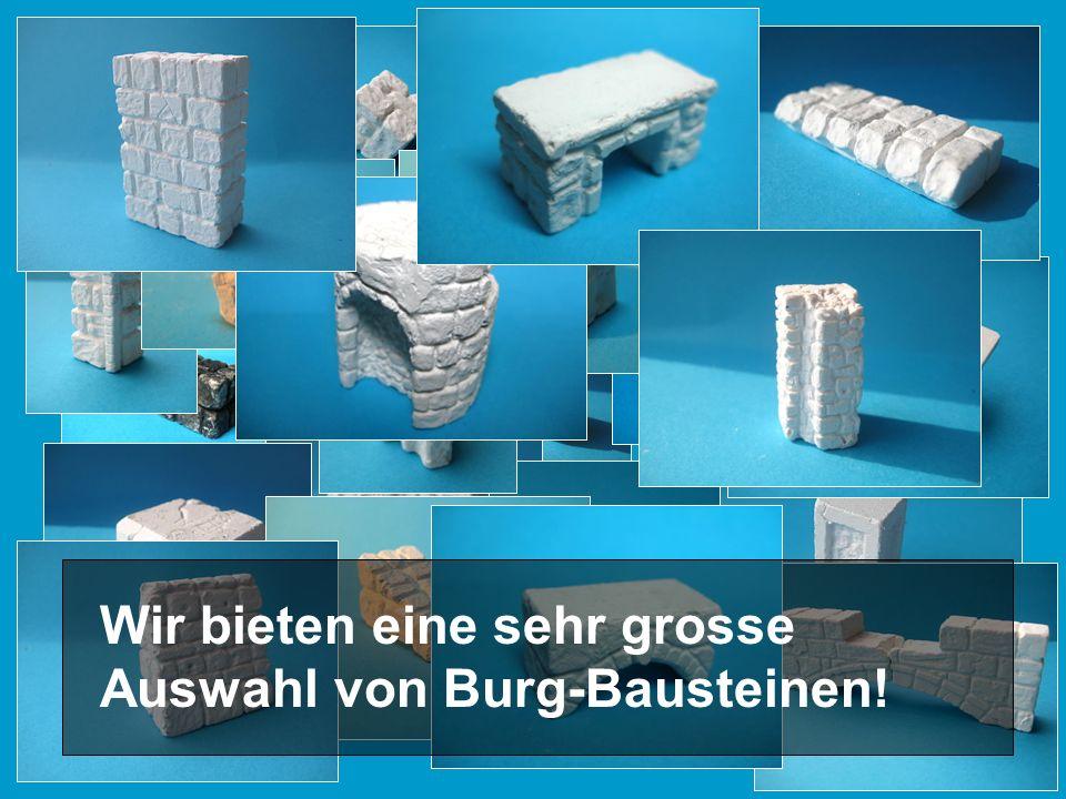 Wir bieten eine sehr grosse Auswahl von Burg-Bausteinen!