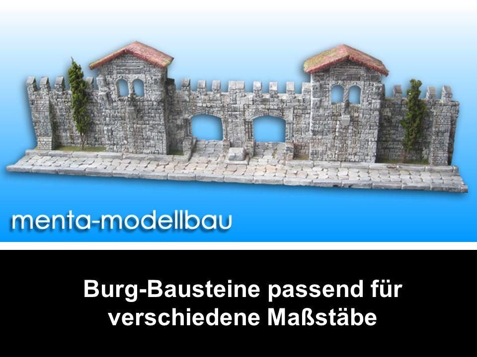 Burg-Bausteine passend für verschiedene Maßstäbe