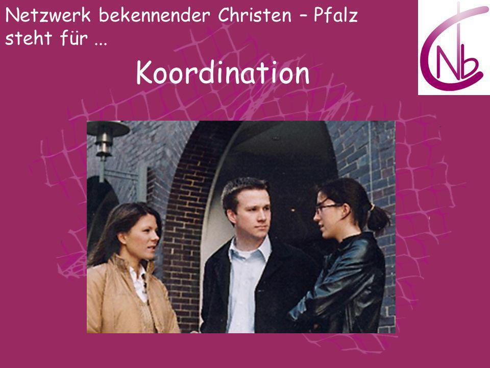 Netzwerk bekennender Christen – Pfalz steht für... Koordination