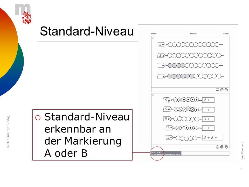 © Mildenberger Verlag 8 Höheres Niveau Höheres Niveau erkennbar an der Markierung C oder D aus Klasse 1