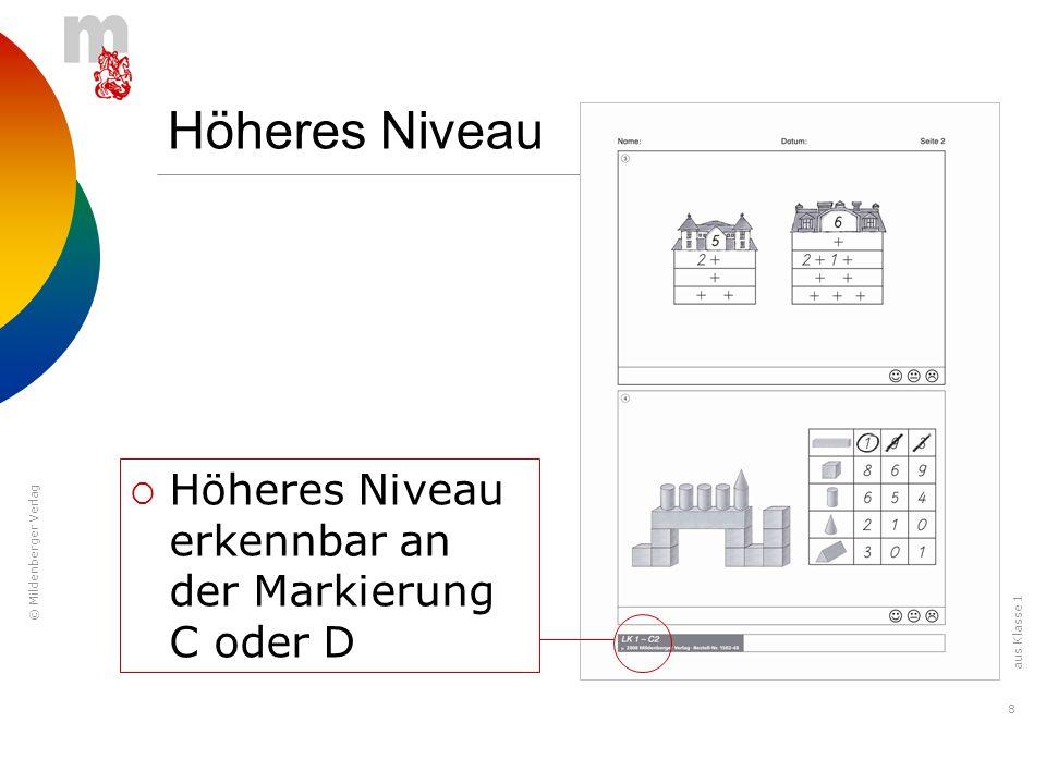 © Mildenberger Verlag 9 Höheres Niveau Seite 3 ist ebenfalls höheres Niveau.