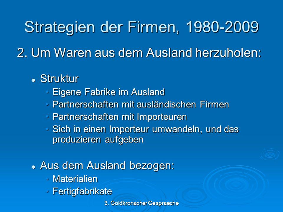 3. Goldkronacher Gespraeche Strategien der Firmen, 1980-2009 2.