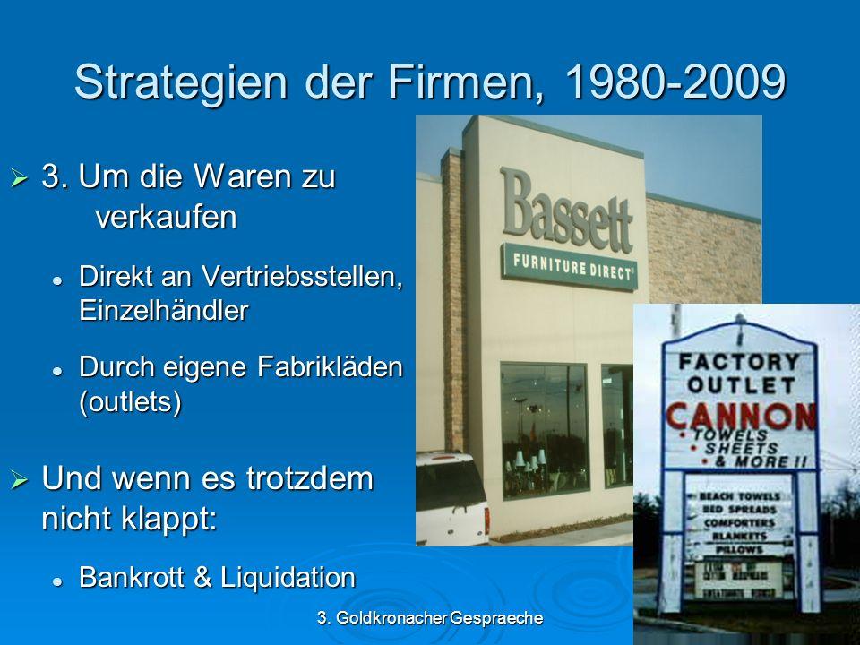 3. Goldkronacher Gespraeche Strategien der Firmen, 1980-2009 3.