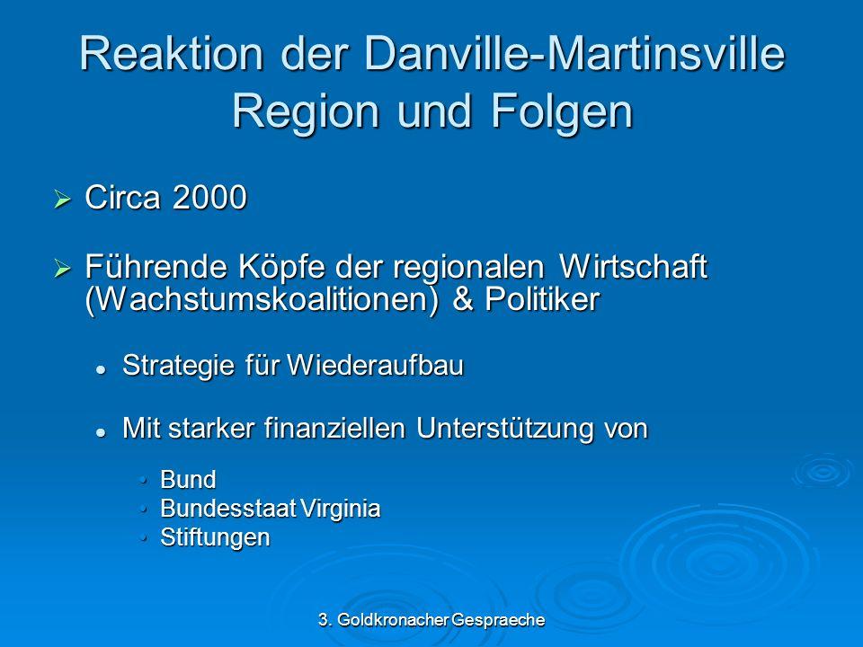 3. Goldkronacher Gespraeche Reaktion der Danville-Martinsville Region und Folgen Circa 2000 Circa 2000 Führende Köpfe der regionalen Wirtschaft (Wachs