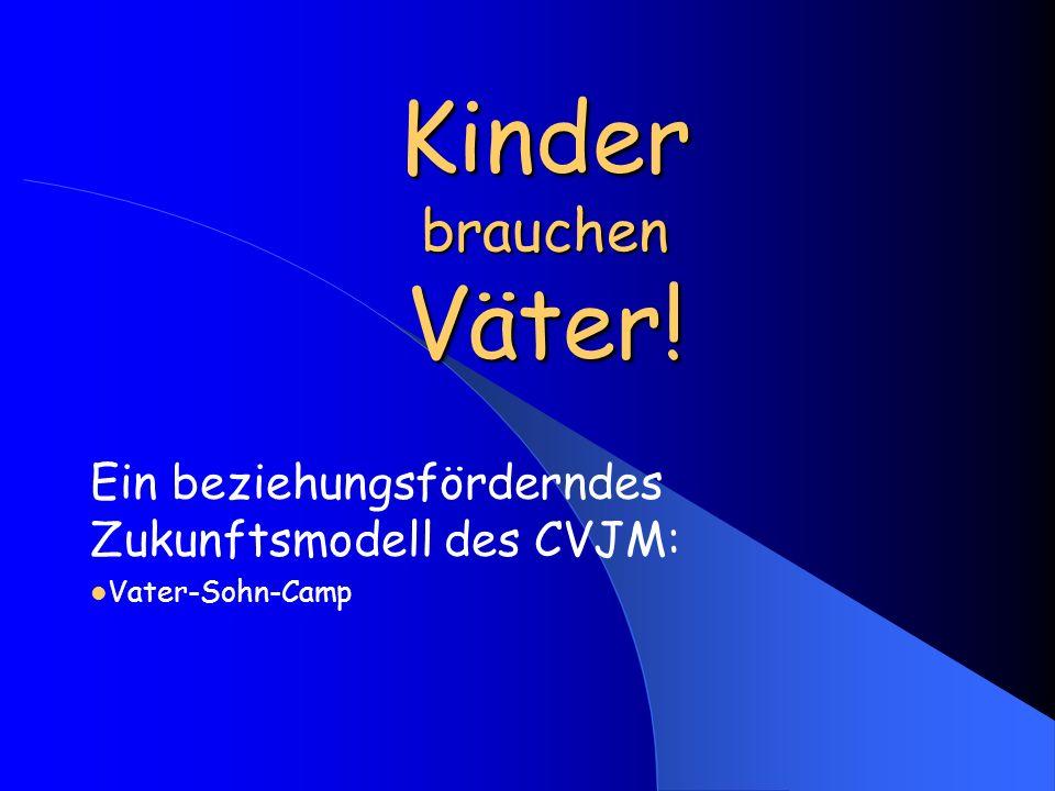 Kinder brauchen Väter! Ein beziehungsförderndes Zukunftsmodell des CVJM: Vater-Sohn-Camp