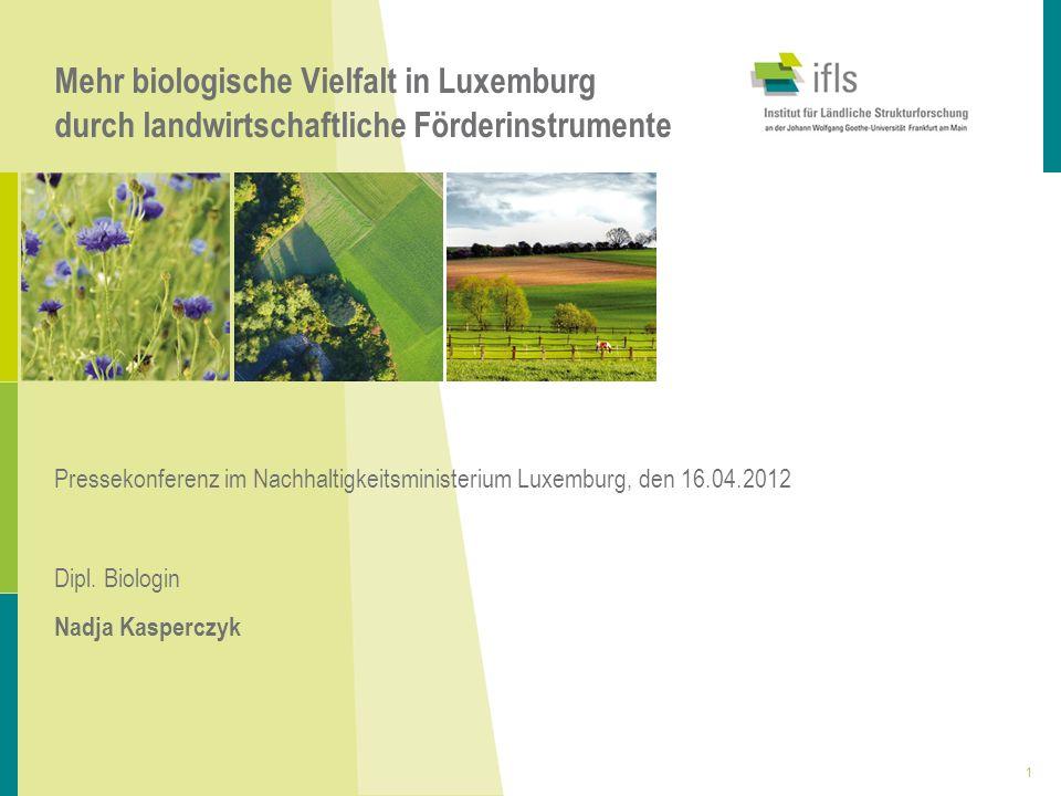 Mehr biologische Vielfalt in Luxemburg durch landwirtschaftliche Förderinstrumente Pressekonferenz im Nachhaltigkeitsministerium Luxemburg, den 16.04.